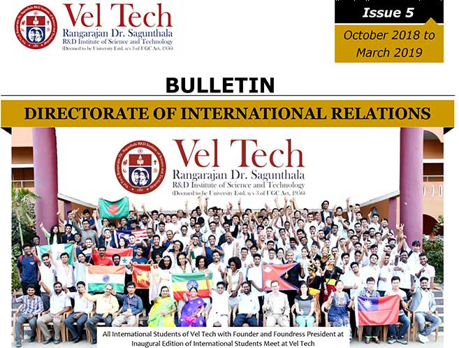 Bulletin Issue 5 (Oct. 2018 – Mar. 2019)
