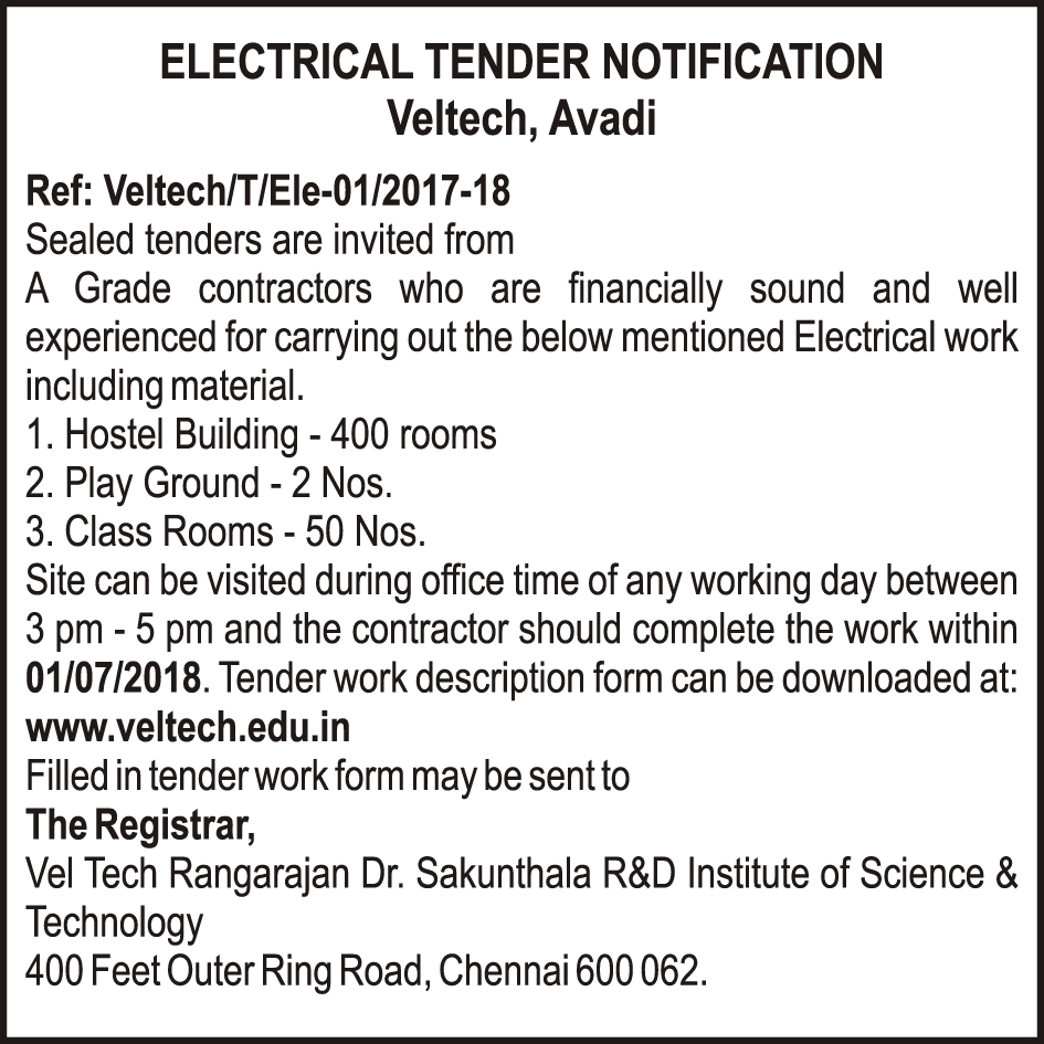 Electrical Tender Work
