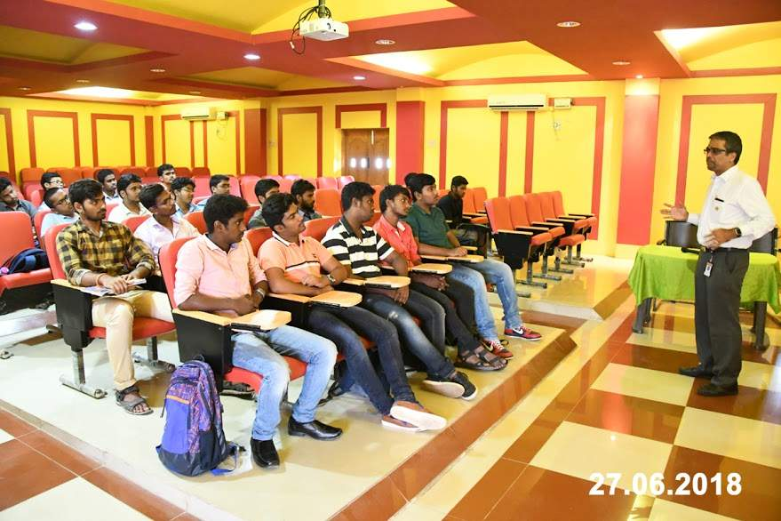 Interaction with Freshman Engineering Students by Mr. B. Ruban devaprasath