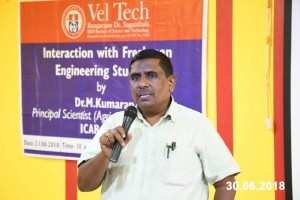 Interaction with Freshman Engineering Students by Dr. M. Kumaran